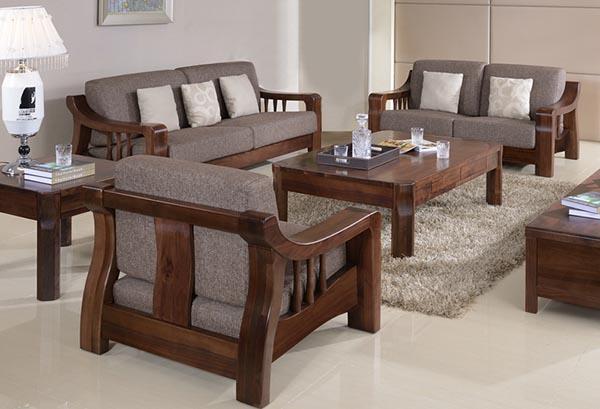 Mẫu sofa gỗ óc chó phù hợp nhất cho phòng khách rộng - Nadu Furniture