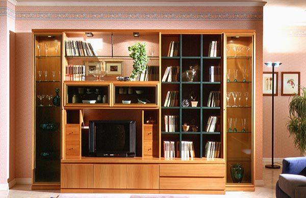 Mẫu tủ gỗ âm tường cho phòng khách đẹp và tiết kiệm được diện tích khá lớn - Nadu Furniture