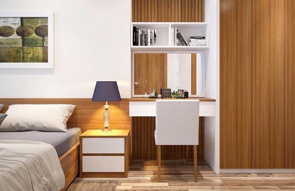 Mẫu thiết kế bàn làm việc cho phòng ngủ hẹp - Nadu Furniture
