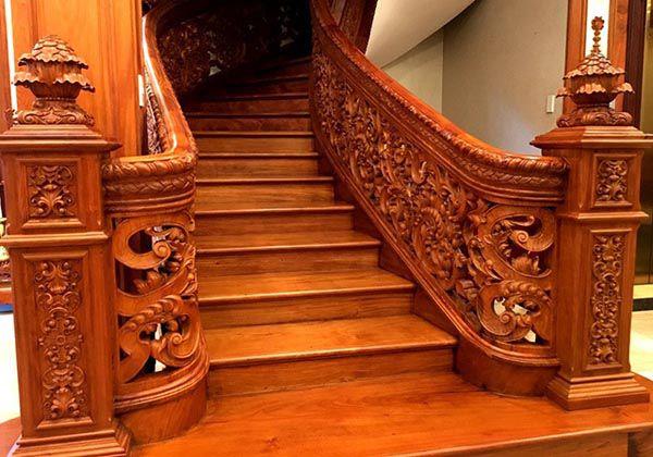 Mẫu trụ cầu thang dành cho biệt thự cao cấp - Nadu Furniture