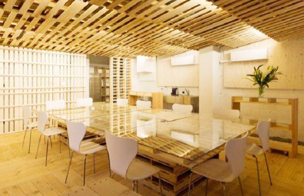Nội thất gỗ thông trang trí phong cách gỗ thông Pallet