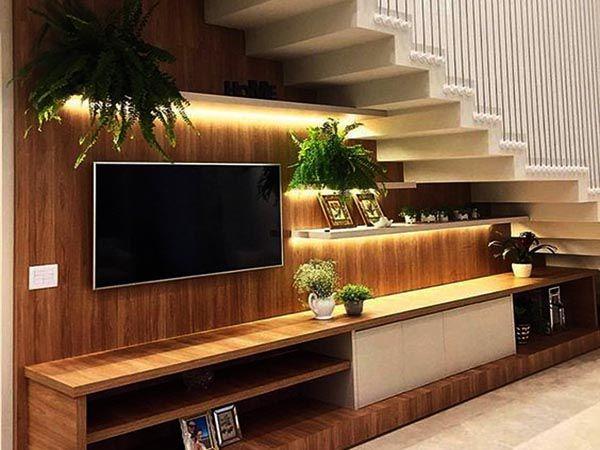 Những mẫu kệ tivi dưới chân cầu thang đẹp nhất 2019 - Nadu Furniture
