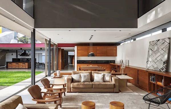 Phòng khách hiện đại kết hợp nét cổ điển đơn giản