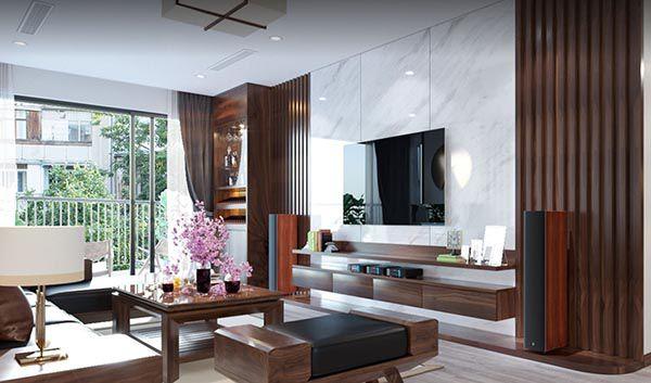 Tủ gỗ phòng khách gỗ óc chó sang trọng và đẳng cấp _ Nadu Furniture