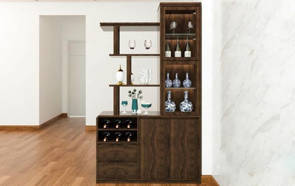 Tủ rượu gỗ phòng khách đẹp mã TRG 101 - Nadu Furniture