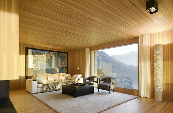 Trang trí nội thất bằng gỗ thông đẹp