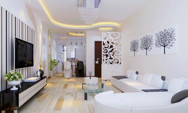 Trang trí nội thất phòng khách đẹp và trẻ trung - Nadu Furniture