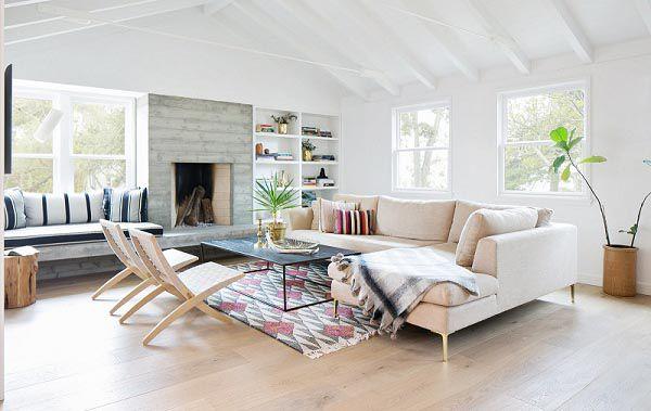 Trang trí nội thất phòng khách đẹp và trẻ trung với gam màu trung tính