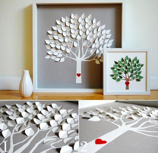 Trang trí phòng ngủ bằng đồ Handmade đẹp_ Hình cây