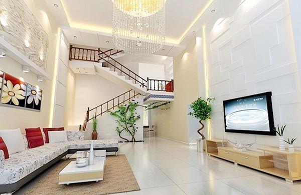 Xu hướng thiết kế Phòng khách đẹp hiện đại với cầu thang làm điểm nhấn