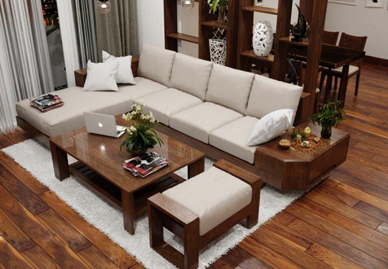 Bộ sofa gỗ óc chó mã SFG 202 - Nadu Furniture