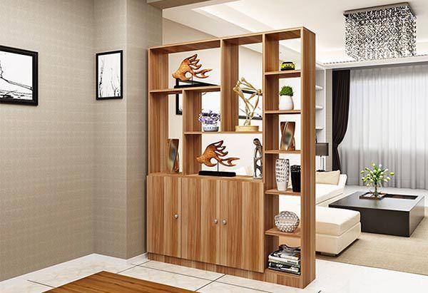 Có nên sử dụng kệ gỗ trang trí phòng khách hay không