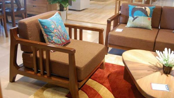 Ghế sofa đơn gỗ óc chó mã SFĐ 101