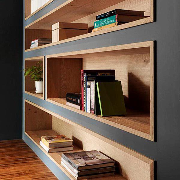 Kệ sách âm tường luôn là lựa chọn hàng đầu trong thiết kế nội thất hiện đại