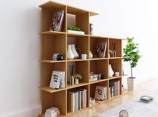 Kệ sách gỗ đơn giản mà rất tiện dụng - Nadu Furniture