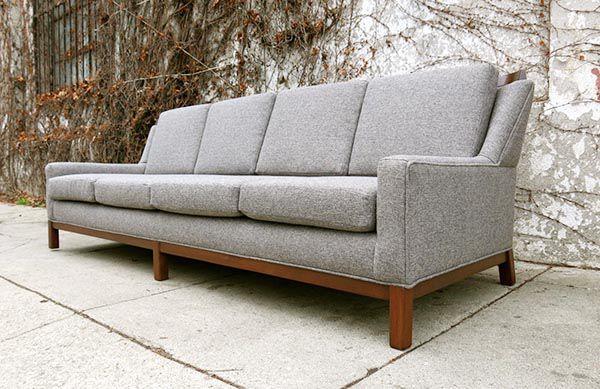 Sofa bọc nệm bằng gỗ sồi tự nhiên