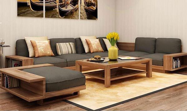 Sofa gỗ bọc nệm thông minh và tiện dụng