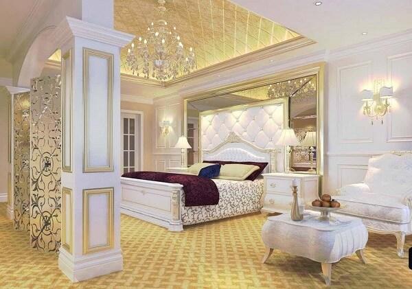 Đồ dùng nội thất ánh kim vàng đồng