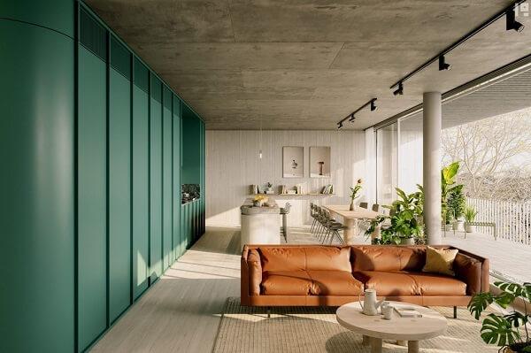 Sử dụng tone màu caramel trong thiết kế nội thất