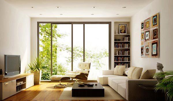 Tận dụng ánh sáng tự nhiên hoặc đèn chiếu sáng để tạo không gian thoáng cho căn phòng