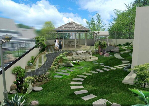 Thiết kế sân vườn phù hợp với nam Quý Hợi