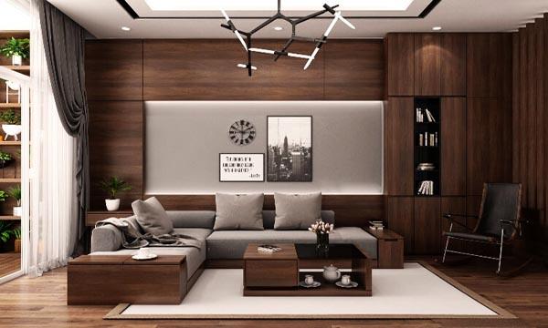 Xu hướng thết kế nội thất phòng khách bằng gỗ mang lại vẻ đẹp sang trọng quyền quý