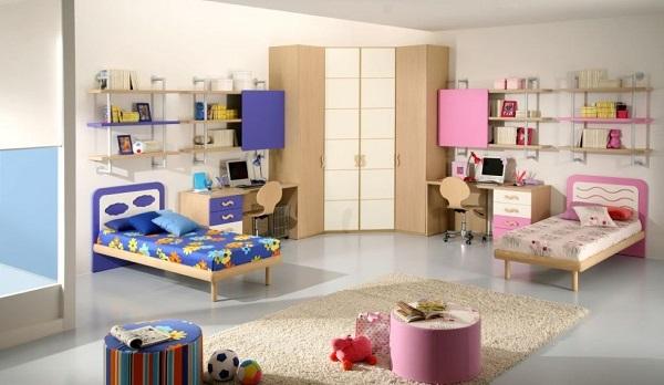 Trang trí nội thất cho tới sơn tường, vật dụng đều sử dụng gam màu đỏ làm chủ đạo
