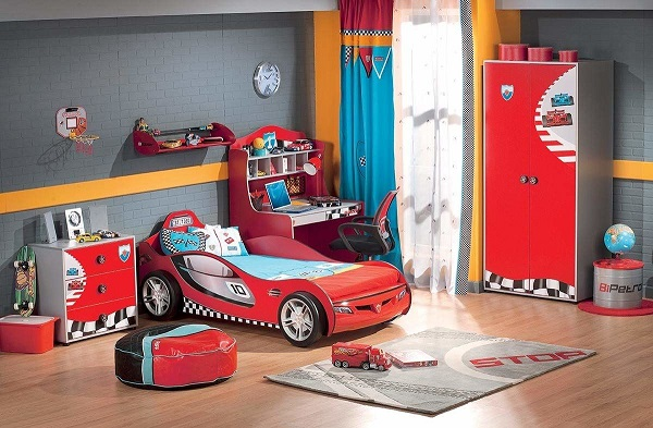 Phong cách siêu xe cho phòng ngủ bé trai