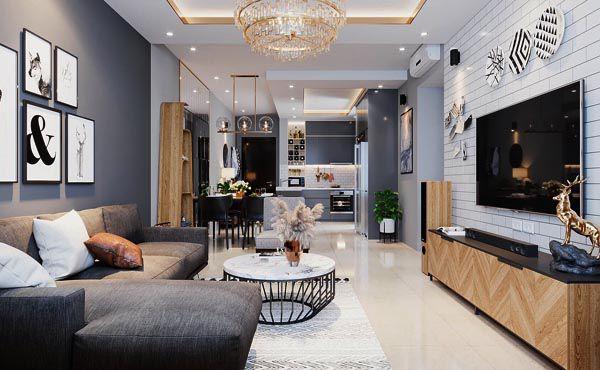 Căn phòng nên sử dụng các đồ nội thất hiện đại và sang trọng
