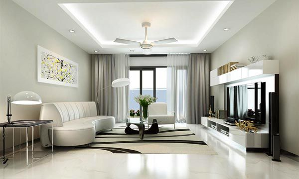 Màu trung tính luôn được ưu tiên lựa chọn trong phong cách nội thất hiện đại