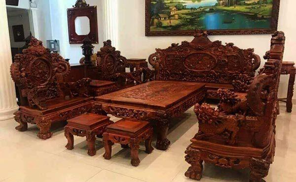 Mua bộ bàn ghế gỗ phòng khách ở đâu uy tín tại Hà Nội