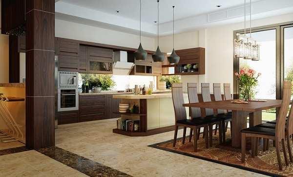 Hình ảnh phòng ăn với phong cách nội thất hiện đại